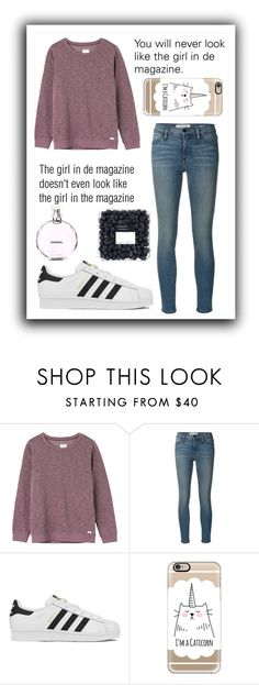 """#316 the girl in the magazine"" by xjet1998x ❤ liked on Polyvore featuring мода, RVCA, Frame Denim, adidas, Casetify, Chanel, women's clothing, women, female и woman"
