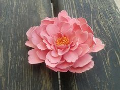 Pink  Peony Flower ,  Claycraft by DECO ,  Hair Clip/Brooch,Cake Flowers,Wedding