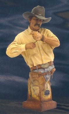 """This striking """"When The Going Gets Tough"""" Large #Cowboy Sculpture by  Stephen Herrero is a vibrant, multicolored love letter to the timeless images of the traditions of the Old West."""