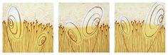 Elisa Viotto Arte . Sogno d'estate . Acrylic on canavas . 30 x 30 x 4 cm piece . 2011