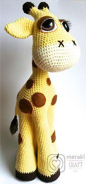Ravelry: Flick the Giraffe - Amigurumi pattern by Laura Pavy $5.50