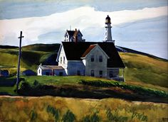 Edward Hopper - Hill and Houses, Cape Elizabeth, Maine 1927