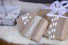 Vintage Lamb Themed Neutral Baby Shower   Jennifer Jones Photography   Gender Neutral   Rustic   cream   burlap   baby shower   vintage   wrapped presents