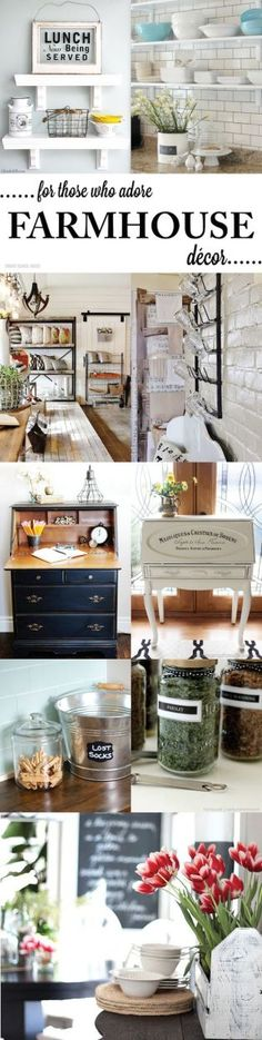 Farmhouse Decor Ideas! Rustic ideas for the bedroom, kitchen, bathroom, or entire home!