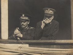 Sidney Maidment (left) and David Rees on the Empress of Ireland by Salvation Army IHQ, via Flickr