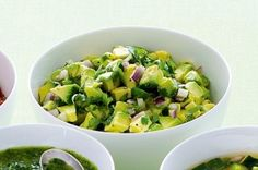Avocado and Lime Salsa with Coriander - Avocado is considered as one of the healthiest foods to add into your diet.