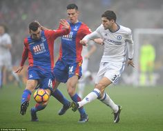 James McArthur & Marcos Alonso: Crystal Palace 0-1 Chelsea, 17 Dec 16