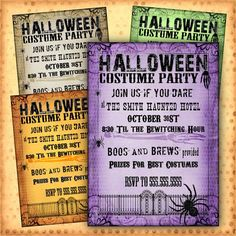 WANTED - wording ideas and samples for freaky Halloween party invites. Solution at Invitations By U