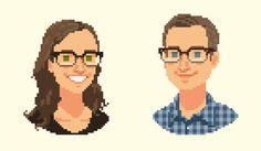 VIXELS pixel portraits by Vic Nguyen