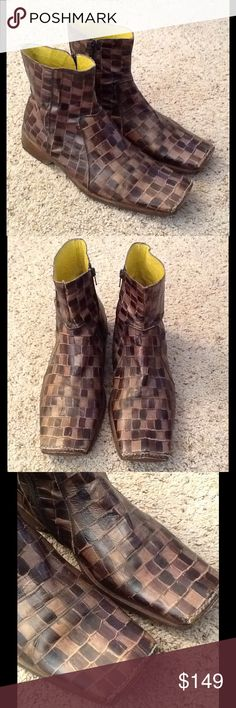 Selling this SEBASTIANO MIGLIORE BROWN CROC LEATHER ANKLE BOOTS on Poshmark! My username is: backbend31. #shopmycloset #poshmark #fashion #shopping #style #forsale #Sebastiano Migliore #Shoes