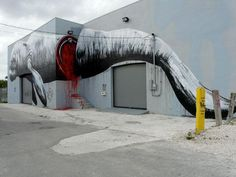 streetartutopia.com. Manetees hurt by boaters. Street Art around the world_1_ROA_Miami