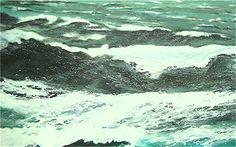 Willi Gottschalk, Acryl auf Holz; Nordsee