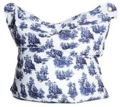 Modern Toile De Jouy   ... BULL Large Fashion Bean Bag Chair - Toile de Jouy modern kids chairs