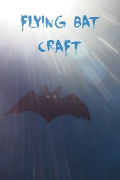 I've wanted to make this easy flying bat craft for kids for a while and with Halloween coming up I decided it was time.