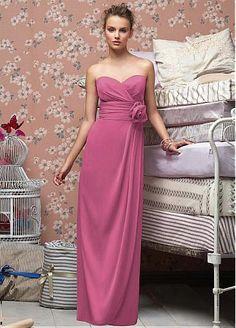 Stunning Chiffon Sheath Sweetheart Bridesmaid Dress #Dressilyme