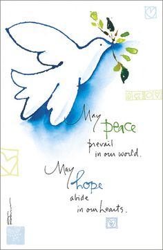 "Dose of Inspiration: Peace & Hope | ""May peace prevail in ou… 
