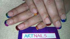 Funky mixed glitter acrylic nails Glitter Acrylics, Glitter Nail Art, Acrylic Nail Art, Painting, Painting Art, Paintings, Acrylics, Drawings