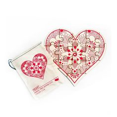 Valentine's Day gift ideas for kids: Lovely little wooden heart puzzle in a bag