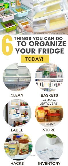Fridge organization is so important if you want to save money and food. Here are 6 things you can start doing today to organize your fridge!