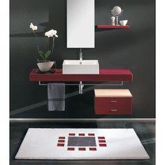 Moderner Badteppich auf Maß. Teppich in elegantem Design mit einer Florhöhe von 18 mm und große Farb & Formauswahl.