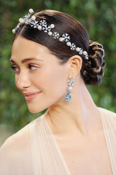 This headband adds delicacy to this updo. | Monumental Hair Moments