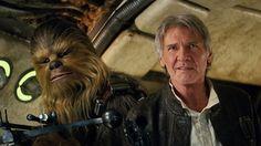 Star Wars: The Force Awakens: Harrison Ford was paid 76 times. Star Wars: The Force Awakens: Harrison Ford… Star Wars Film, Ver Star Wars, Star Wars Han Solo, Star Trek, Harrison Ford, Peter Mayhew, Michael Keaton, Anthony Michael, Mark Hamill