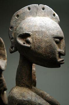 Mali; Dogon Satimbe mask (detail), Mali, c. early 20th century (wood, pigment…