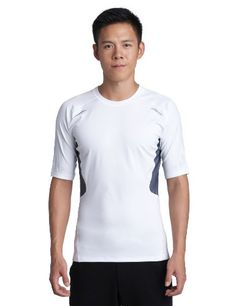 adidas Herren kurzärmliges Shirt Techfit Preparation, white, M, W58878