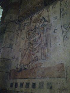 Os segredos de Moraime. O Papa Pío olla aos que entran na igrexa... #papapiomoraime #pinturasdemoraime #moraime