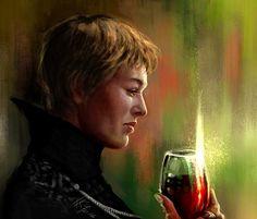 Amazing Portrait Digital Painting of Cersei Lannister by Karnival Kun