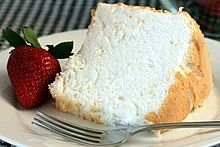 Heavenly Angel Food Cake - great paired with cool whip and strawberries!