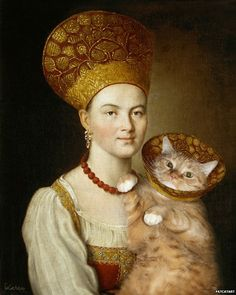 Russian artist Svetlana Petrova photoshops her awesome cat named Zarathustra into iconic and famous works of art...