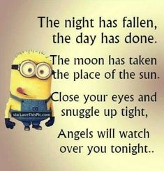Funny quotes sweet dreams funny memes about minions funny minion memes funny good night sweet dreams Cute Quotes, Great Quotes, Funny Quotes, Funny Memes, Inspirational Quotes, Top Quotes, Funny Good Night Quotes, Quotes Images, Amor Minions