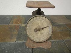 vintage Rusty Old  TROJAN FAMILY SCALE ** 24 Lb. ***  Very Rusty Patina** Early 1900s ?? by mauryscollectibles on Etsy