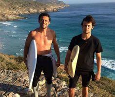 Fred e amigo em Arraial do Cabo Frio (Foto: Divulgação)