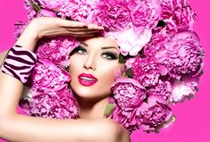 123RF - Millions of Creative Stock Photos, Vectors, Videos and Music Files For Your Inspiration and Projects. Graphic Design Company, Graphic Design Services, Pink Peonies, Peony, Beauty Video Ideas, High Fashion Models, Beauty Quotes, Fashion Images, Creative Makeup