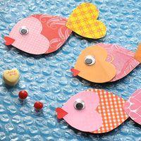 Valentine Fishes,The Little Mermaid crafts,crafts,valentine's day crafts