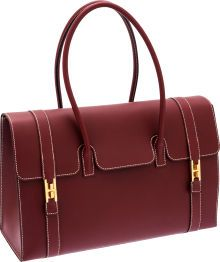 Hermès 37cm Rouge H Chamonix Leather Drag Bag | Hermès makes the most gorgeous bags. I love the style and color...