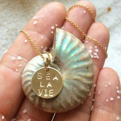 SEA LA VIE Necklace | sea life is the only life for me! #saltysoul