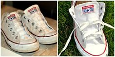 How to Clean Your White Converse {or Canvas} Shoes