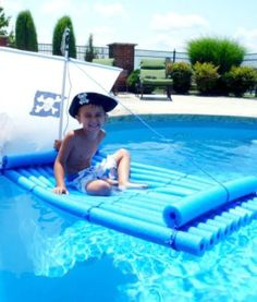 How to Make a Pirate Raft Using Pool Noodles