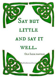An Irish proverb