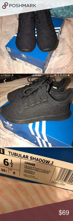 reputable site 94b2d 28a82 Tubular Adidas Color  Shadow (black) Only worn once, too tight for me)   Comes with original box and stuffing! F  39 1 3 Shoes Sneakers
