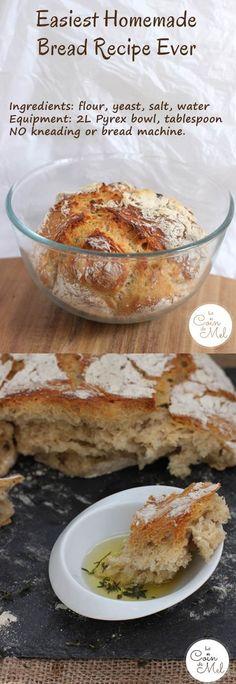 Easiest Homemade Bread Recipe Ever