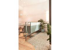 TomMarkHenry California Nails, Velvet Furniture, Nail Salons, Statement Wall, Pink Velvet, Retail Design, Blush Pink, Interiors, Detail