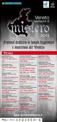 Ecco le tappe veronesi di Veneto Spettacoli di mistero 2015 in programma dal 30 ottobre al 6 dicembre 2015 @gardaconcierge