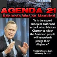 The Elites, United Nations sponsored Agenda 21 plan for the complete enslavement of humanity