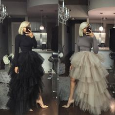 Turtle Orchid Skirt Set – Oyemwen - New In Tops Fall Dresses, Evening Dresses, Prom Dresses, Skirt Outfits, Chic Outfits, Black Tulle Skirt Outfit, Tutu Skirt Women, Trendy Outfits, Vetement Fashion