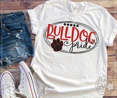 "Check out our internet site for additional information on ""bulldog puppies"". It is an exceptional spot to find out more. School Spirit Wear, School Spirit Shirts, School Shirts, Teacher Shirts, Work Shirts, Cheer Shirts, Vinyl Shirts, Sports Shirts, Football Shirts"