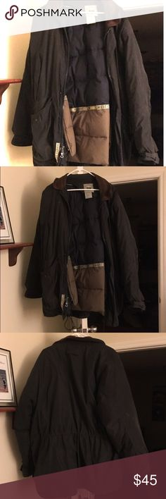Winter Jacket with Leather Collar Very warm jacket that can be tightened at different areas to keep you warmer. Helped me at my last job for the few winter days we experienced. Forest Club Jackets & Coats Puffers